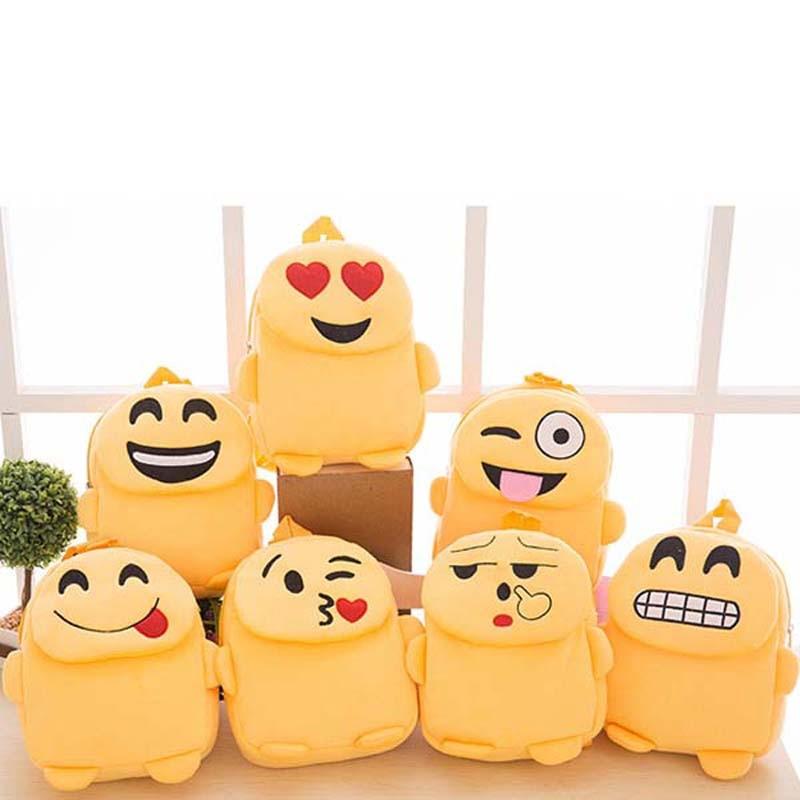 2017 New Fashion Childrens Gifts Storage Bags Creative Emoji Face Expression Plush Travel Portable Hanging Storage Bag NXH2727