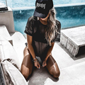 HEYounGIRL 2017 Nova Mulher Elegante Camisa de T das Mulheres O-Neck Oco Carregado Fresco Regular T-Shirt do Verão Colocação Escavar Costum