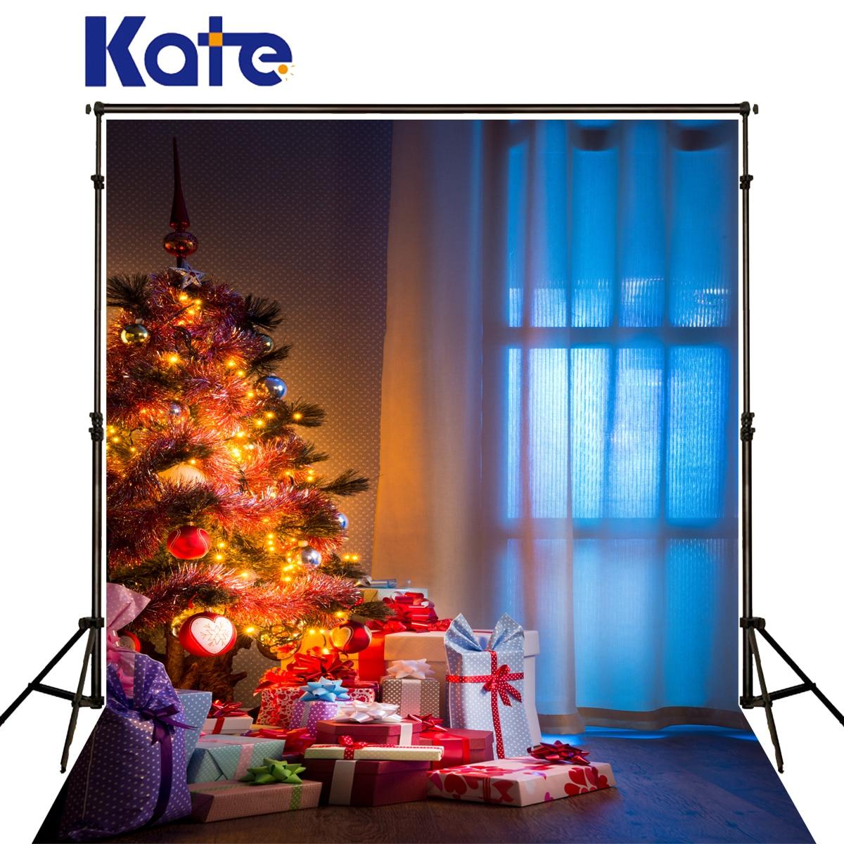 Kate Christmas Photography Background Curtain Wood Floor Fondo Fotografico De Estudio Color Lights Backdrops For Photo Shoot