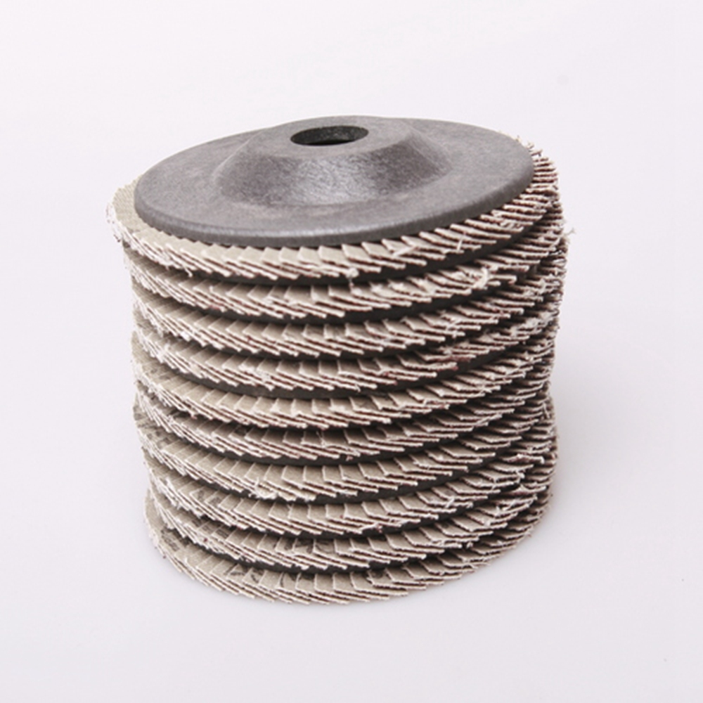 Nya 10stk / set poleringshjul Grit 4 '' Elektrisk vinkelslipare Klapp - Slipande verktyg - Foto 6