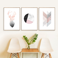 Deer Posters Nordic Abstract Painting Geometry Canvas Pictures For Living Room Home Decor Posters And Prints Canvas Art Unframed