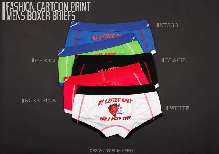 Boxer Mutig Mens Boxer Cartoon Underwear Höschen Baumwolle Unterhosen Männer Boxer Shorts Cuecas Calzoncillos Paar Underwear Cartoon Panty L Xl