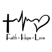 Faith Hope Love Vinyl Decal Sticker For Car or Truck Windows Laptops etc