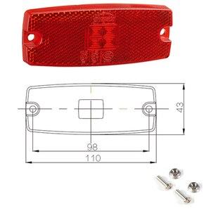 Image 5 - 2 stücke AOHEWEI 10 30 V LED rot seite marker hinten licht anzeige lampe mit reflektor für anhänger lkw lkw ECE Zustimmung