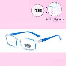 Оптические очки, оправа для детей, для мальчиков и девочек, близорукость, оправы для очков с линзами 0 градусов, простые зеркальные очки, Детские Y8802-25