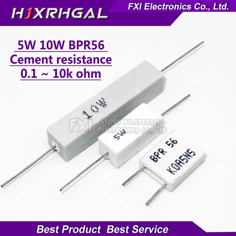 10pcs 5W 10W BPR56 Cement resistance 0.1 ~ 10k ohm 0.33R 1R 10R 100R 0.22 0.33 1 10 100 1K 10K ohm Cement resistor igmopnrq10pcs 5W 10W BPR56 Cement resistance 0.1 ~ 10k ohm 0.33R 1R 10R 100R 0.22 0.33 1 10 100 1K 10K ohm Cement resistor igmopnrq