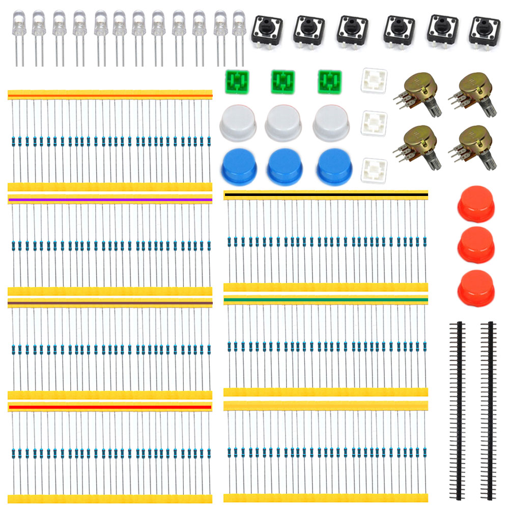 GM Parts Package / Component Package Kit A1 For Arduino Project With Resistor+Botton+Adjustable Potentiometer