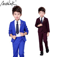 ActhInK 2017 Fashion Autumn/Winter Korean Style Boys Costume for Wedding Soft Top Quality Jacket Blazer Shirt and Trousers,TC131