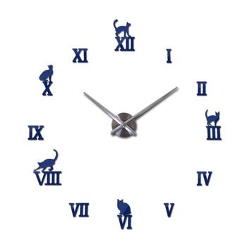 Hot design large decorative wall clocks brief design diy clocks digital watch quartz living room 3d cat wall stickers 12