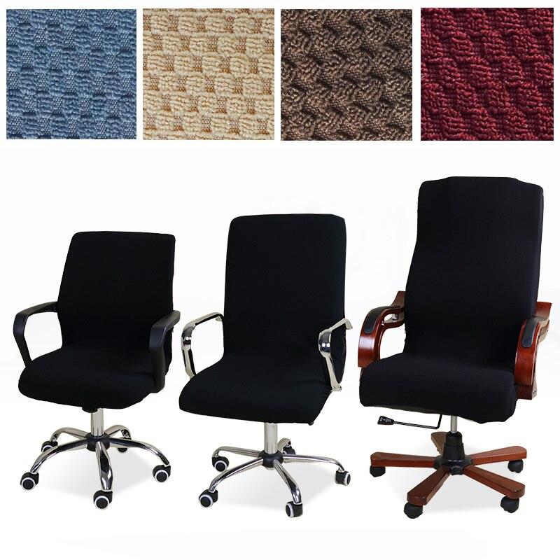Lellen tamanho Universal tampa da cadeira do Jacquard Do Computador elástico Escritório poltrona assento Braço Slipcovers Capas de Cadeira Trecho Rotação