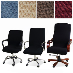 Universal size Jacquard chair cover Computer Office elastic armchair Slipcovers seat Arm Chair Covers Stretch Rotating Lift