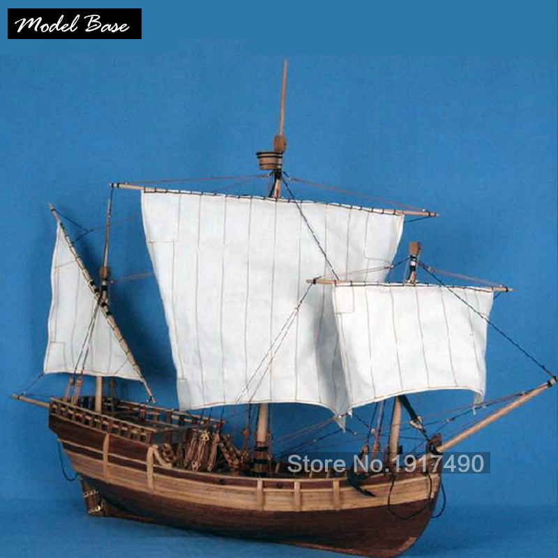 Wooden Ship Models Kits Train Hobby Model-Wood-Boats 3d Laser Cut Scale 1/50 Model-Ship-Assembly Diy Educational Toy Pinta wooden ship model kit kids educational games boat wood models 3d laser cut adult assemble model ships scale 1 87 corsair unicorn