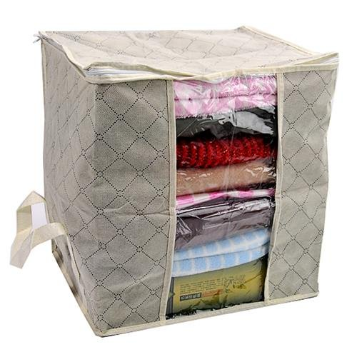 Charcoal clothes bag quilt storage 40*38*30cm high quality free shipping