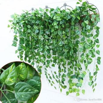 Hot Selling Artificial Vines Leaf Garland Silk Wisteria Vines Fake Foliage Flowers Home Decor Garden Wedding Decoration