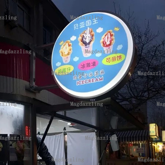 Outdoor Aluminum Frame Round Double Sided LED Backlit Shop Signs - Car sign with namesonline get cheap d led sign aliexpresscom alibaba group