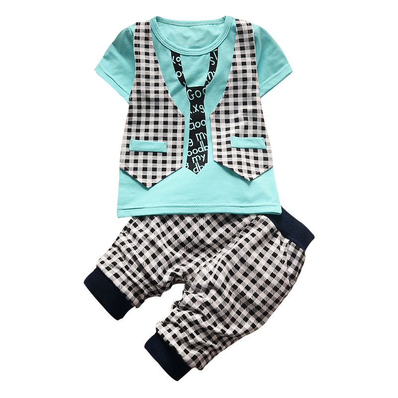 2018 Summer Children Clothing Boys Clothes Set Kids Short T-shirt Pants Cotton Comfortable Cartoon Boys Clothing Gentlemen Suit