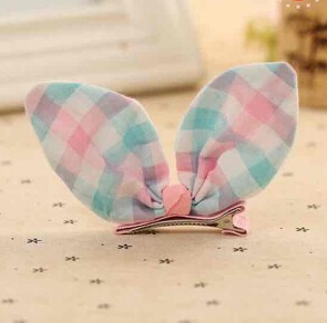M MISM New Cute Rabbit Ear Hair Clip Wraped Well Stripe Headwear For Girls Kids Hair Accessories Lovely Princess Hairpins m mism girl cute hairball hairpins lovely colorful hairgrips kids accessories new arrival hair clips headwear best gift to kids