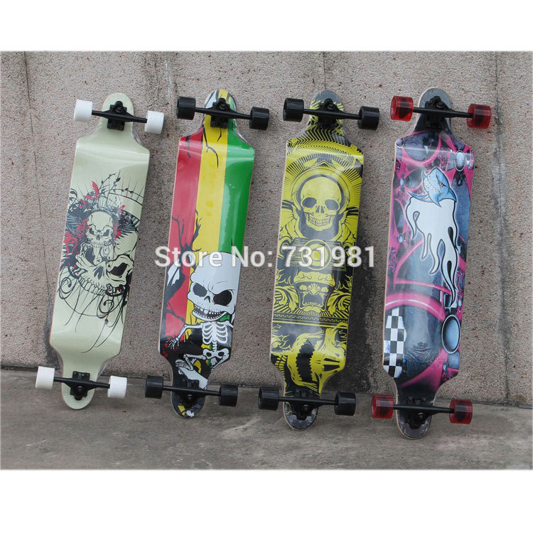1Pcs Cruiser 40 Professional Maple longboard skate board Double drop down through Downhill peny skateboard wheels longboard 22 retro mini skate trucks fish long board cruiser complete tablas de skate pp women men skull