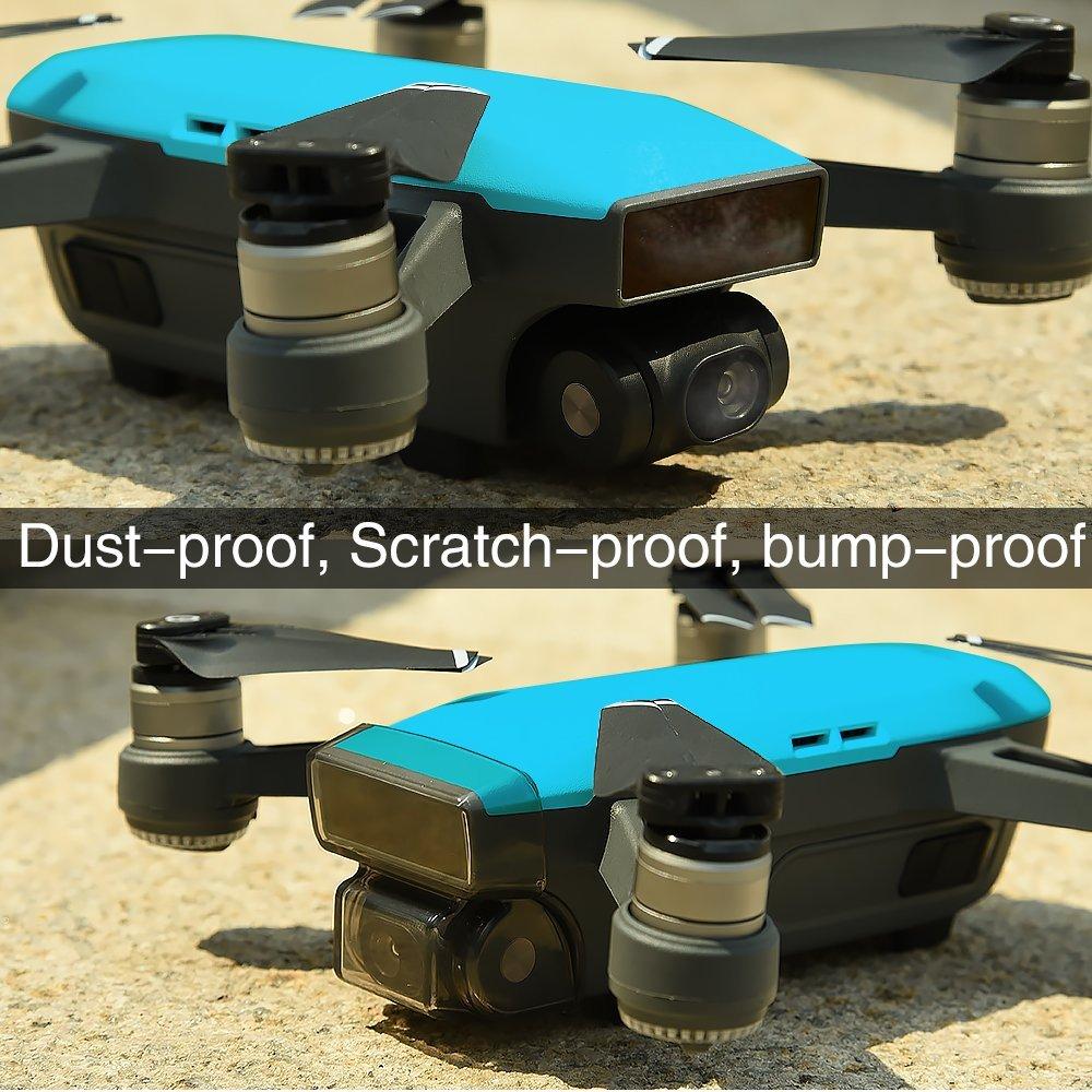 50pcs DJI Spark Gimbal Camera Guard Protector Lens Cover Cap Front 3D Sensor System Screen Cover Drone Accessory