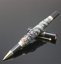 JINHAO Noble Gray Dragon Play Pearl Dragon Carved Crystal Roller ball pen for gifts office school pens new design(China)