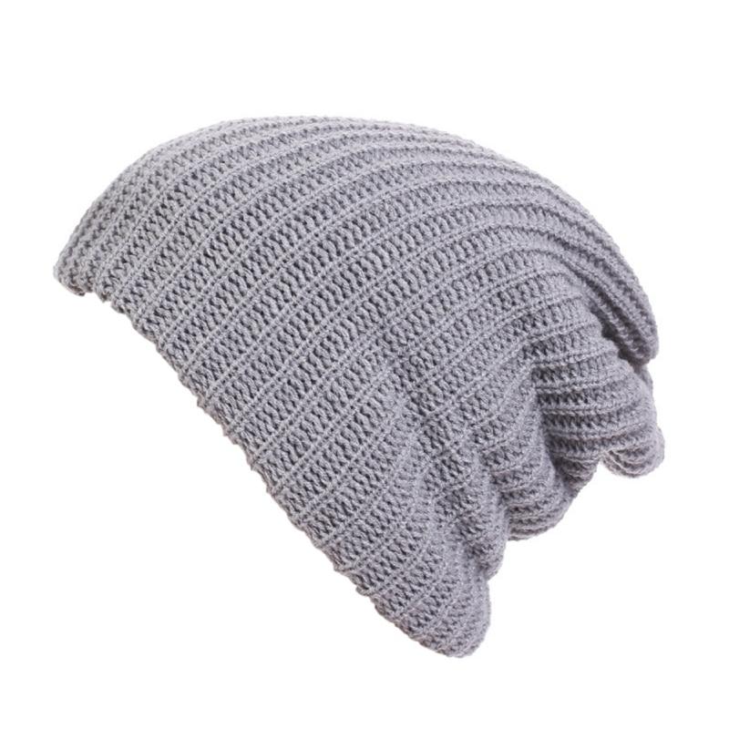 Winter   Beanies   Men Knitted Hat Caps Bonnet Warm Baggy Winter Hats For Men Women   Skullies     Beanies   Hats