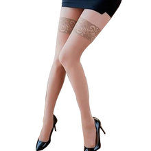 Transparent Sexy Women Fashion Ultrathin Lace Top Sheer Thigh High Silk Tights Long Knee Stockings Lady Adult Lingerie