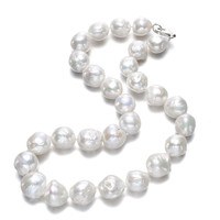 13 15mm baroque AA Unique Pearls jewelry Store AA Nice Quality natural Freshwater Pearl Necklace For Women