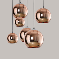Fashion colour glass Single Head LED Pendant lamp for indoor Vintage Glasses Lampshade For Cafe Bar Dining Room Pendant Lighting