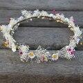 Cabelo Coroa de Flores de fadas de Solteira! Natural Seco chá Da Flor Headband Para O Casamento Mulher Meninas Coroa Tiara