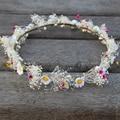 Fairy Maiden Hair Flower Crown !  Natural Dried Flower Headband For Wedding Woman Girls Wreath Tiara