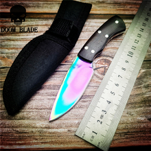 140mm 5CR15MOV Blade Knives Outdoor Multi-function Portable Knife 57HRC Camping Knife Mafia Fixed Blade Knife classic hunting knife blade kit damascus blade blanks diy fixed blade 57hrc camping knife blade