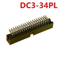 10pcs 34 Pin DC3 Simple horns Right Angle 2.54mm spacing series Shrouded Male Header Connector ISP interface JTAG socket copper