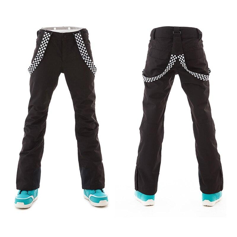 Pantalon ski femme pantalon snowboard hiver femme extérieur coupe vent imperméable pantalon chaud pantalon neige pantalon snowboard - 5