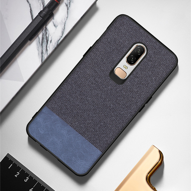 innovative design 0376c d2662 US $3.98 |oneplus 6 case luxury canvas cloth fabric lithe back cover  6.28inch ultra thin super comfortable one plus 6 case-in Fitted Cases from  ...