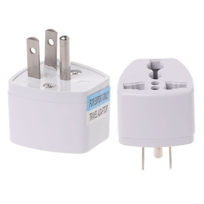 Universal <font><b>UK</b></font> EU AU to US <font><b>3PINS</b></font> AC Power Socket <font><b>Plug</b></font> Travel Electrical Charger Adapter Converter image