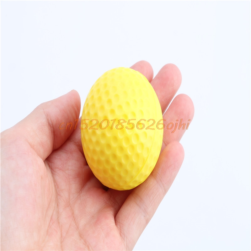 Training Practice Golf Elastic PU Foam Balls Yellow 10pcs Indoor Outdoor Sports #H030#