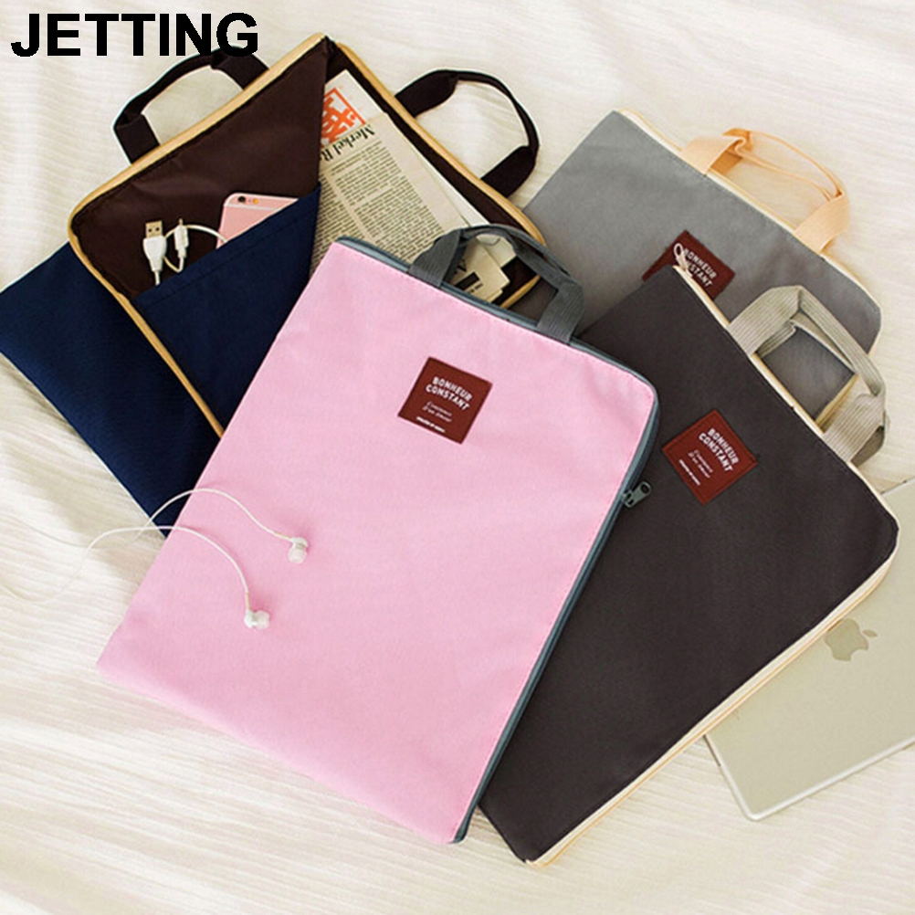 JETTING 1PCS New A4 Canvas File Folder Bag Document Organizer Bag Cartella Documenti Archivador Documentos Briefcases 4 Colors