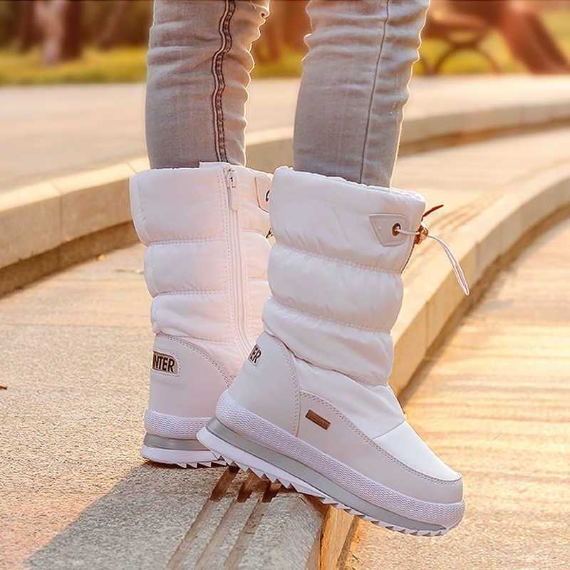 2019 ฤดูหนาวแพลตฟอร์มรองเท้าผู้หญิงเด็ก Anti-SLIP Snow BOOTS รองเท้าสำหรับ Wome กันน้ำอุ่นฤดูหนาวรองเท้า Botas