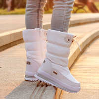 2019 Plataforma de Inverno meninas Botas Crianças Botas de Neve De Borracha anti-slip Sapatos para menina Miúdos grandes Inverno Quente À Prova D' Água sapatos Botas