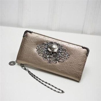 Women's Lace Skull Wallet Bags and Wallets Best Seller Hot Promotions Women's Wallets Color: Gold