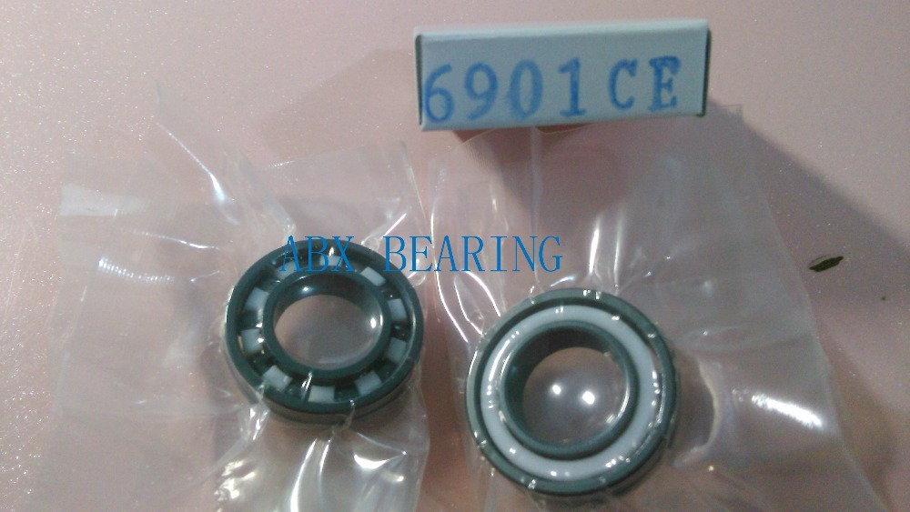 6901 full SI3N4 ceramic deep groove ball bearing 12x24x6mm open type 61901 best price 10 pcs 6901 2rs deep groove ball bearing bearing steel 12x24x6 mm