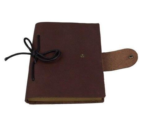 caderno de couro do vintage papel