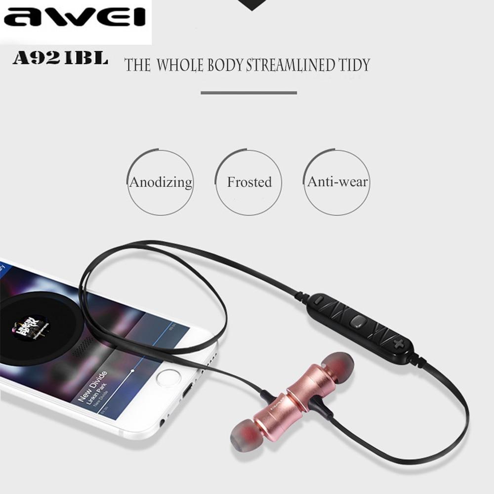 Awei Sport Auriculares Bluetooth Headset In-ear Earphone Ear Phone Bud Cordless Wireless Headphone For iPhone Earpiece Earbud