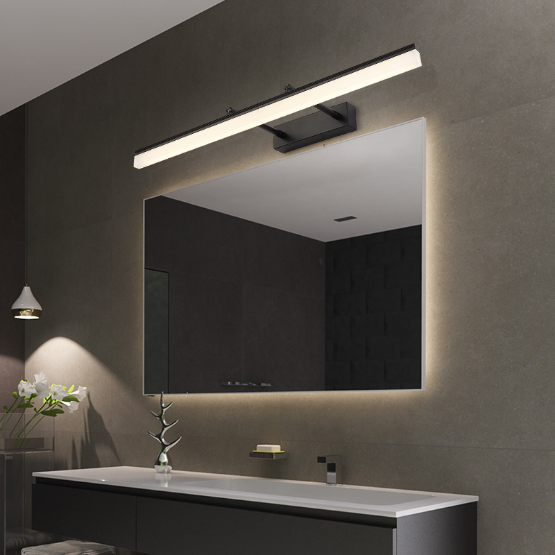 Modern Bathroom LED vanity Wall saconces Lamps fixture Black Silver Gold bedroom Indoor Stretchable Wall light Mirror Lights-in LED Indoor Wall Lamps from Lights & Lighting    2