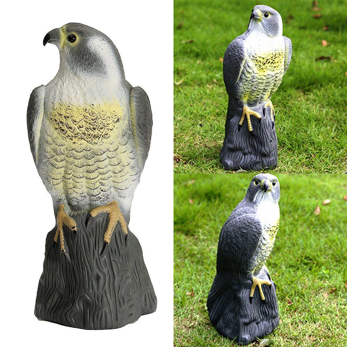 JX-LCLYL Gefälschte Falcon Eule Hawk Jagd Decoy Abschreckung Scarer Repeller Garten Rasen Decor