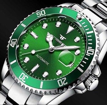 цена FNGEEN Top Brand Men's Fashion Luxury Watch Automatic Mechanical StainlessSteel Waterproof Wrist Male Clock Relogio Masculino онлайн в 2017 году