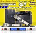 Профессиональный 150 м Беспроводной Расстояние Двухканальный UHF Беспроводной Ручной Микрофон Микрофон Система Для Караоке Вокальный Речь КТВ Микрофон