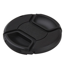 49 52 55 58 62 67 72 77 82 mm Snap-on Center Pinch Front Lens Cap hood Cover with Strap fo