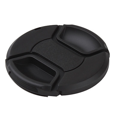 49 52 55 58 62 <font><b>67</b></font> 72 77 82 mm Snap-on Center Pinch Front <font><b>Lens</b></font> <font><b>Cap</b></font> hood Cover with Strap for Canon camera <font><b>lens</b></font> image