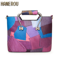 New Fashion Women Bag PU Leather Shoulder Bag Patchwork Branded Ladies HandBags Casual Woman Flap Tote